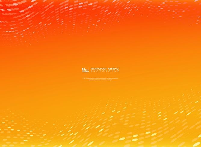 Abstracte gradiënt vector oranje en gele kleur met cirkel punt decoratie. illustratin vectoreps10