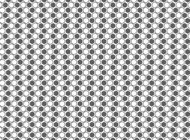 De abstracte achtergrond van de hexagon patroon grijze en witte decoratie. illustratie vector eps10