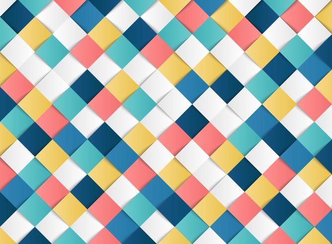 Het abstracte kleurrijke vierkante geometrische document van de patroonontwerp sneed decoratieachtergrond. illustratie vector eps10
