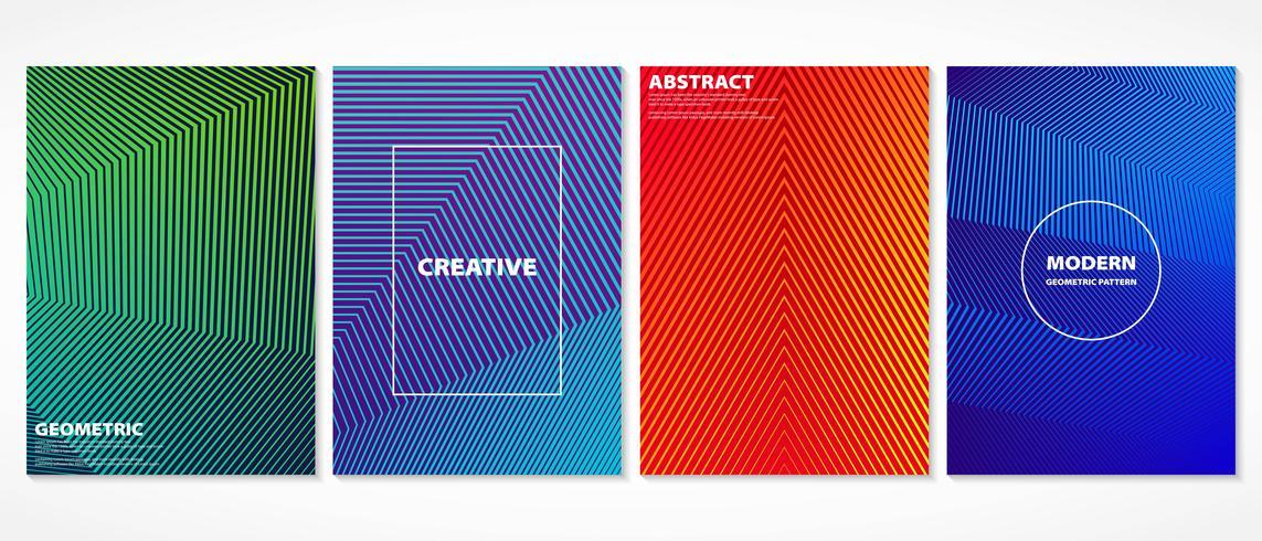 Het abstracte kleurrijke minimale geometrische ontwerp behandelt patroon. vector