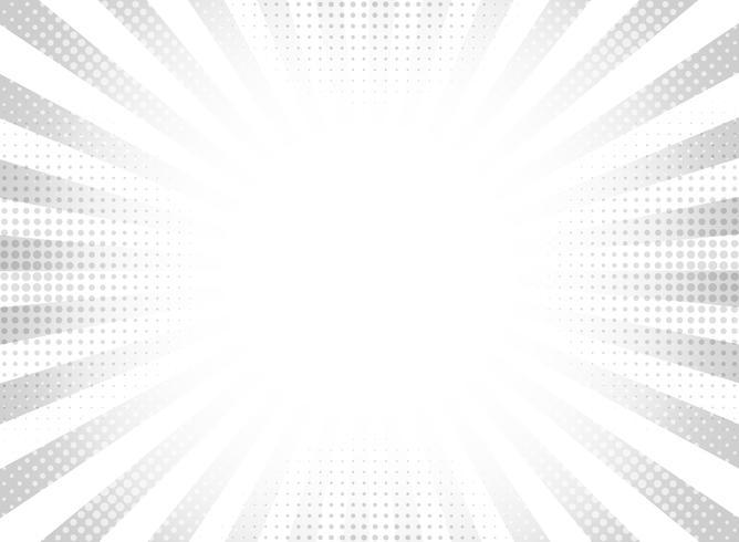 Abstracte grijze halftone stralen cirkel achtergrond. vector