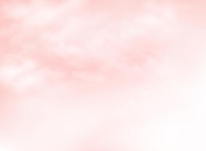 Duidelijke roze levende koraalhemel met de achtergrond van het wolkenpatroon. U kunt deze gebruiken voor zomertijdadvertenties, posters, illustraties, afdrukken, natuurontwerppapier. vector
