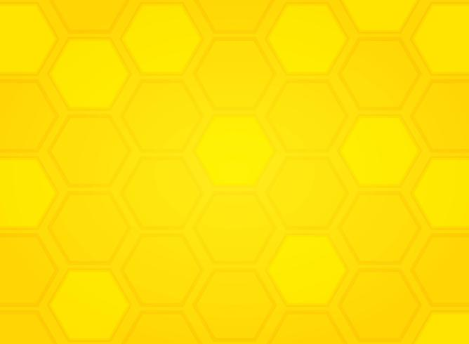 Abstracte moderne gele het patroon hexagon achtergrond van de bijenkorf. illustratie vector eps10