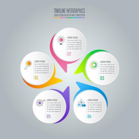 infographic ontwerp bedrijfsconcept met 5 opties. vector