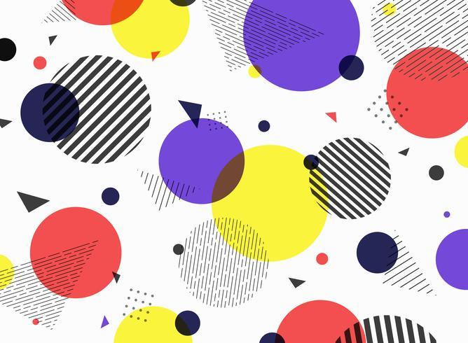 Abstract ontwerp van de patroon het geometrische eenvoudige kleurrijke vorm. vector