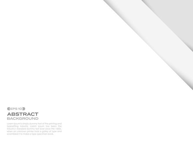 Abstract duidelijk papier gesneden achtergrond met schaduw. vector