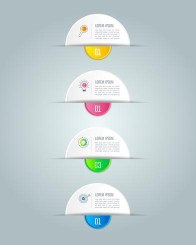 infographic ontwerp bedrijfsconcept met 4 opties. vector