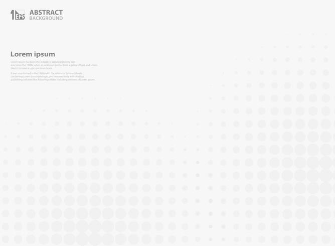 Abstracte halftone cirkelachtergrond van grijs. vector