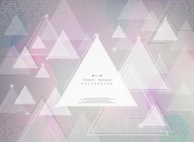 Abstracte futuristische kleurrijke de gradiëntachtergrond van de technologiedriehoek. vector