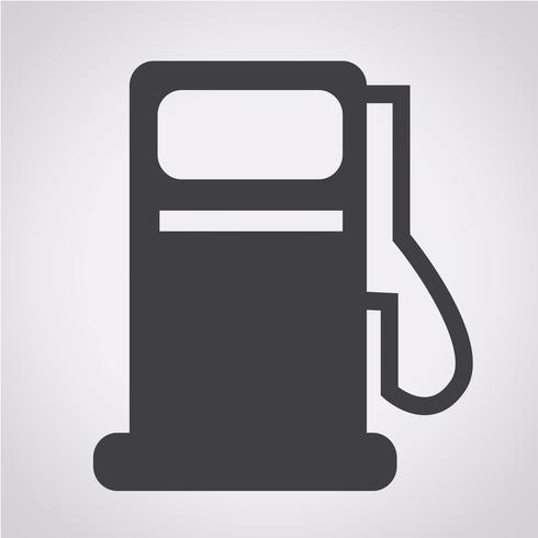 Benzinepomp pictogram, olie station pictogram vector