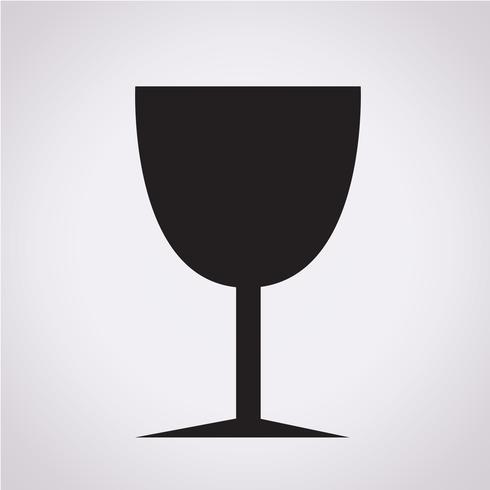 Glazen drankje pictogram vector