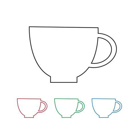 Cup pictogram symbool teken vector