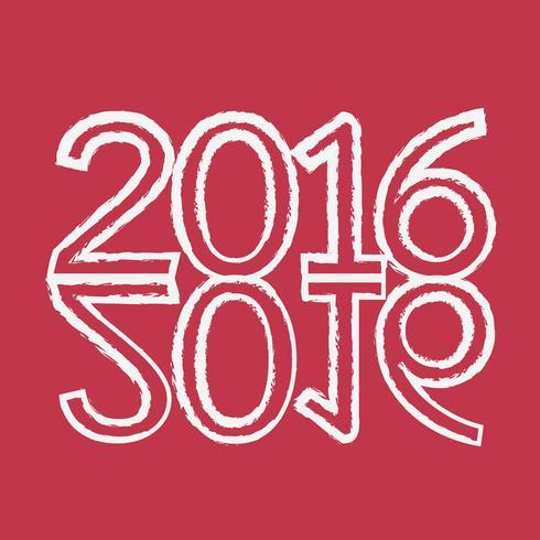 Gelukkig nieuw jaar 2016 vector