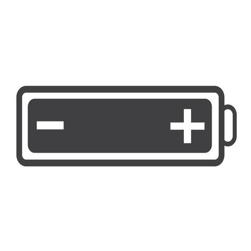 batterij web pictogram vector