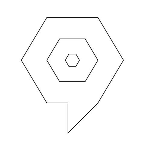 doel bubbel pictogram vector