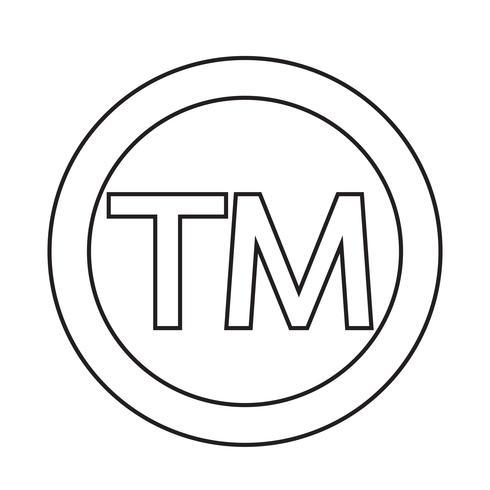 Handelsmerk symboolpictogram vector