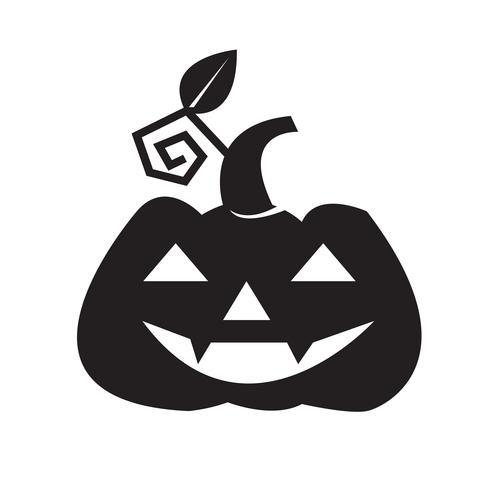 Halloween pompoen pictogram vector