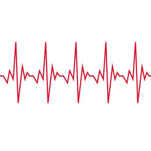 Hartslag cardiogram pictogram vector