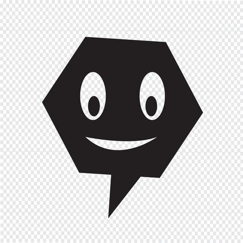 praten toespraak bubble pictogram vector