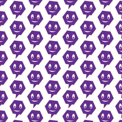 Patroon achtergrond spraak pictogram spraak zeepbel vector