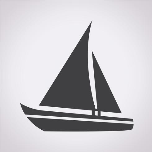 Zeilboot pictogram vector