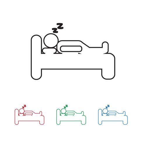 Slaap pictogram symbool teken vector