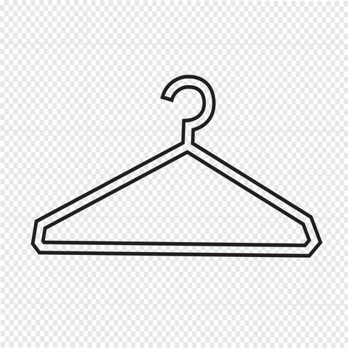 Kleerhanger pictogram vector