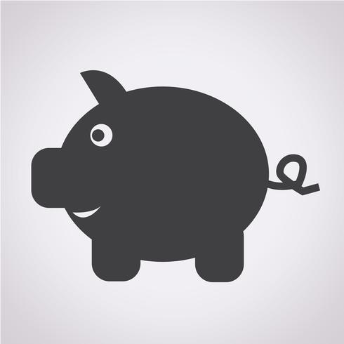 Piggy Bank pictogram vector