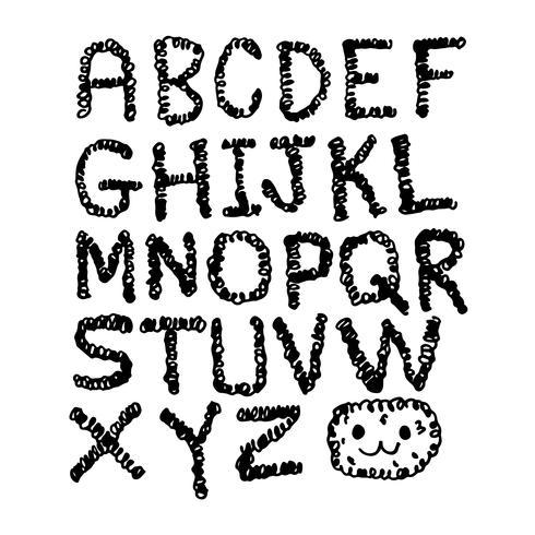 hand teken lettertype vector