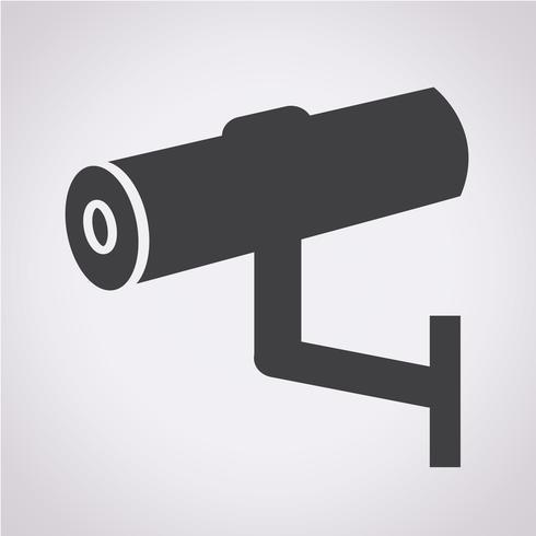 Cctv-pictogram, CCTV, beveiligingspictogram, CCTV-camera vector