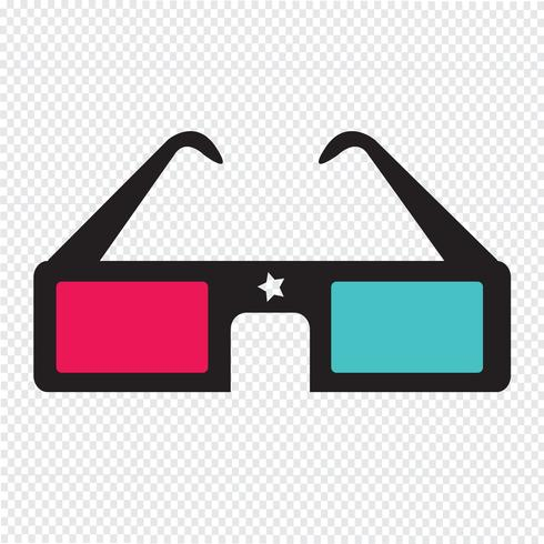3D-bioscoopbril vector