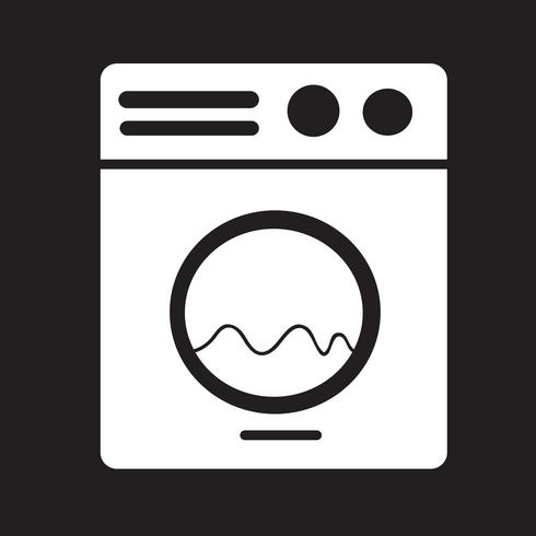 Wasmachine pictogram vector