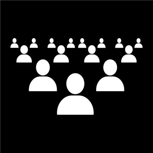 mensen netwerkpictogram vector