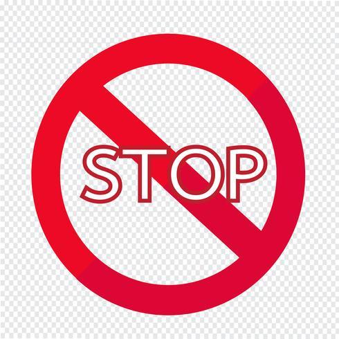 Stoptekenpictogram vector