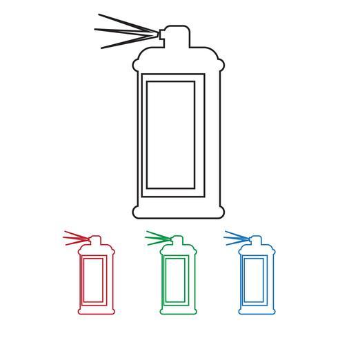 Spray pictogram symbool teken vector