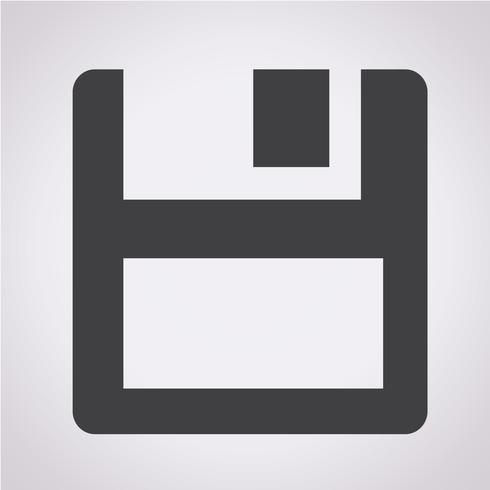 floppy disk icoon vector