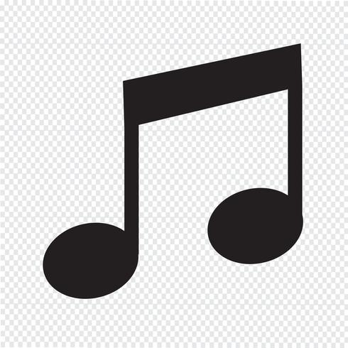 Muzieknootpictogram vector
