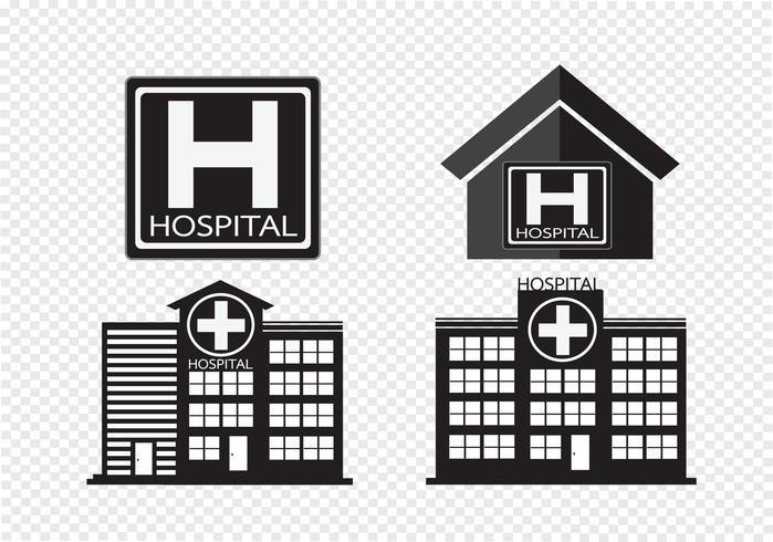 Het ziekenhuis het ontwerp van het de bouwpictogram in illustratie vector