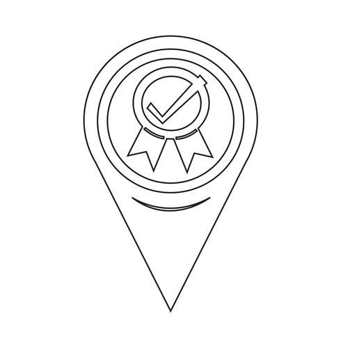 Kaartaanwijzer gecertificeerd pictogram vector