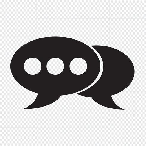 tekstballon pictogram vector