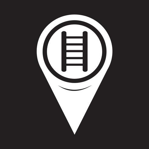 Kaart aanwijzer Ladder pictogram vector