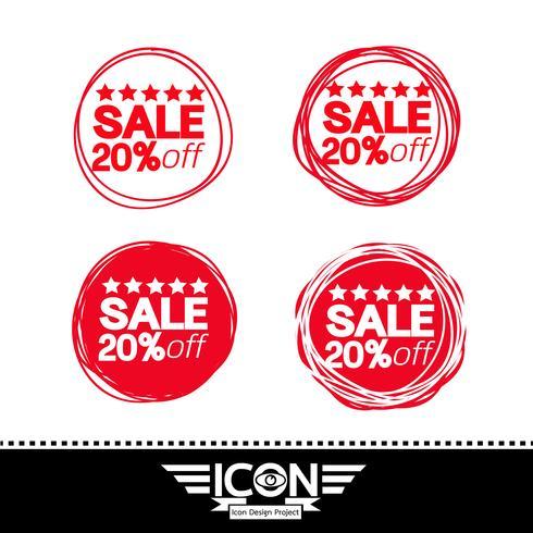 verkoop pictogram symbool teken vector