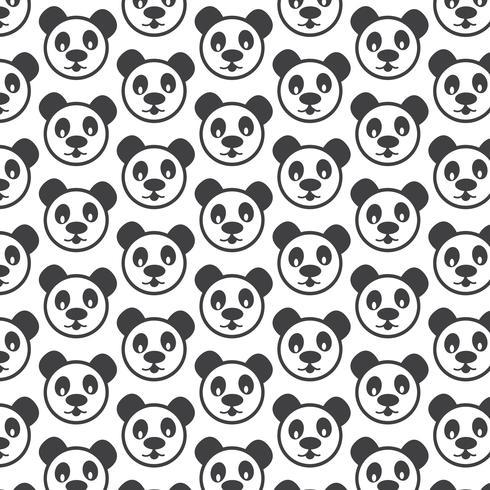 Panda patroon achtergrond vector