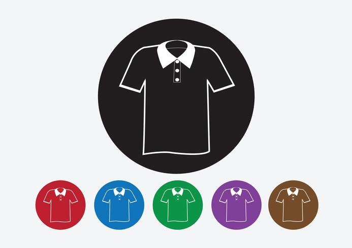 Kleding shirt en T-shirt Pictogram kleding pictogrammen vector