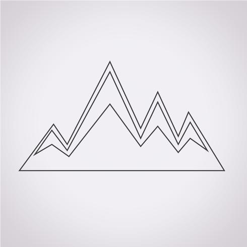 bergen pictogram symbool teken vector