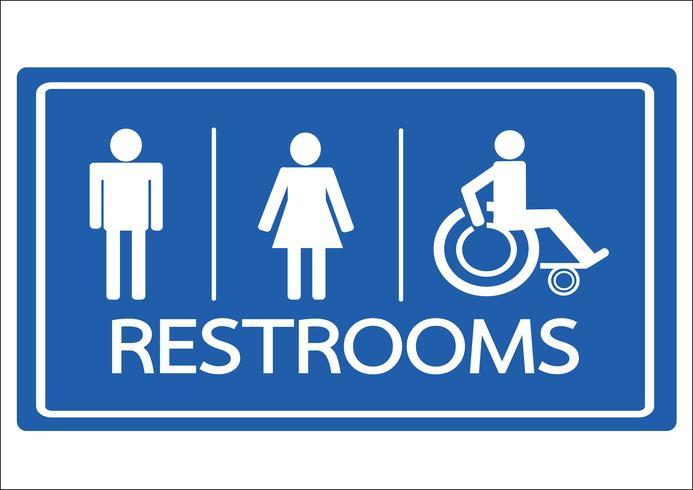 Toilet symbool mannelijke vrouw en rolstoel Handicap pictogram vector