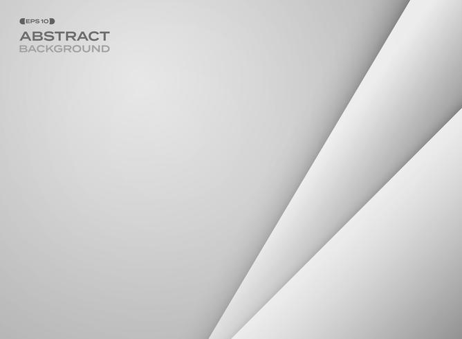 Abstracte gradiënt grijze papercutachtergrond met exemplaarruimte. vector