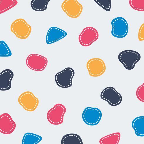 Abstracte kleurrijke leuke de lijnachtergrond van het vormpatroon. U kunt dit gebruiken voor kleuren vormen ontwerp, dekking, stijl kop. vector