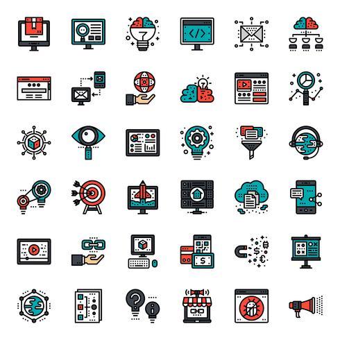 online marketing pictogram vector