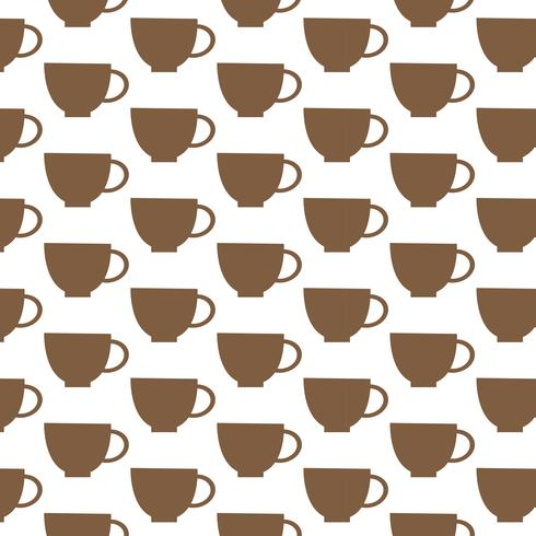 Cup patroon achtergrond vector